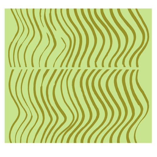 Marimekko tapeta Silkkikuikka 0,7 x 10 m, zelená/zelená