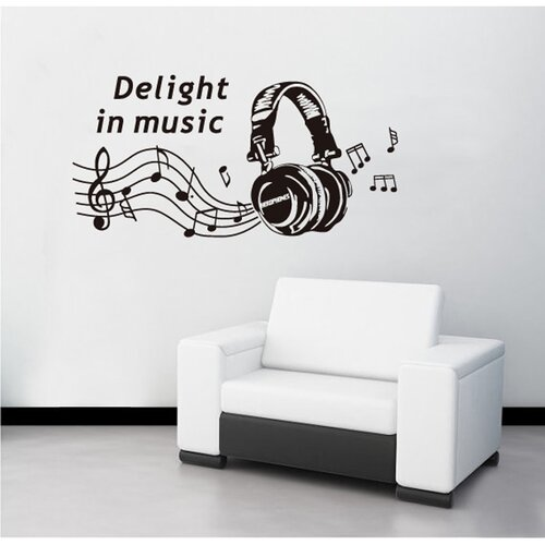 Samolepiaca dekorácia Delight in music