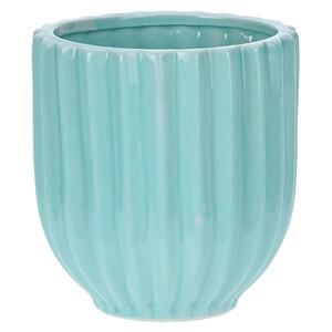 Keramický květináč Stripes, modrá