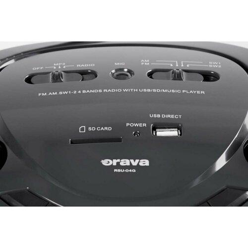 Orava RSU-04 G multimediální přenosný USB/SD přehrávač s rádiem
