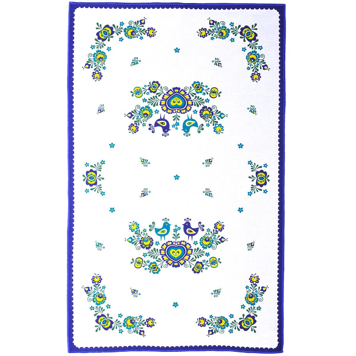 FORBYT Utěrka Folklor modrá, 45 x 70 cm, sada 3 ks