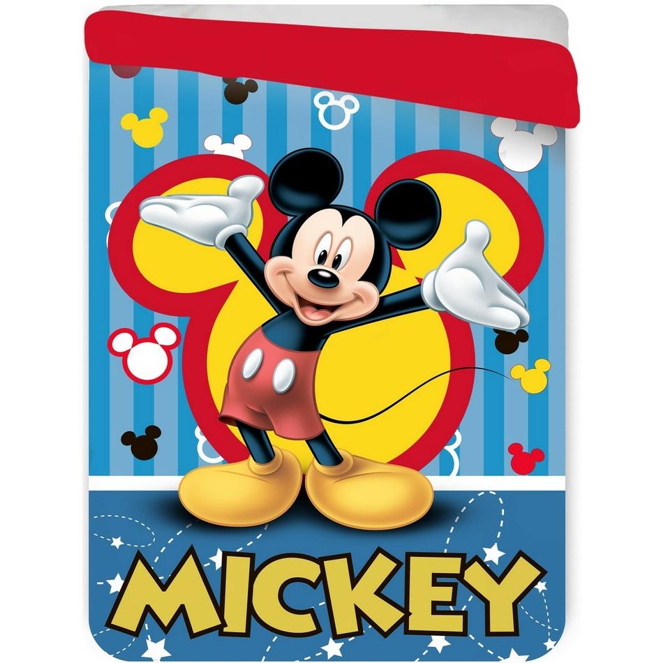 Jerry Fabrics Dětská prošívaná přikrývka Mickey Mouse, 180 x 260 cm