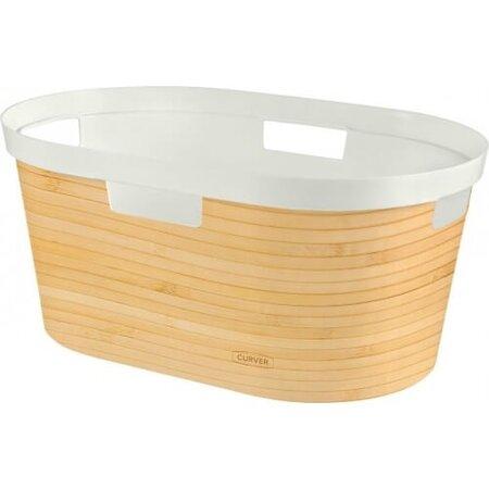 Curver Koš na čisté prádlo INIFINITY 39 l, bambus