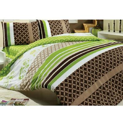 Bavlněné povlečení BELLA zelená, 140 x 200 cm, 70 x 90 cm