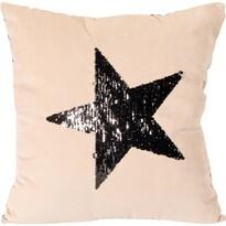 Polštářek Stars béžová, 45 x 45 cm