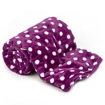 Pătură 4Home Soft Dreams Bulină violet, 150 x 200 cm