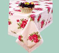PVC ubrus s motivem růží, 142 x 187 cm