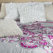 Přehoz na postel Laissa růžová, 240 x 220 cm