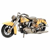 Dekoracja model motocyklu Indian, żółty