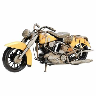 Dekorační model motorky Indian, žlutá