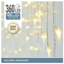 Instalaţie pom de Crăciun Icicle, alb cald, 360 LED