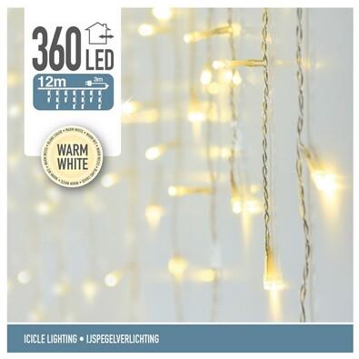 Svetelná vianočná reťaz Icicle teplá biela, 360 LED