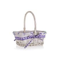 Home Decor Lavender fogantyús fonott kosár, 22,5 x 18,5 x 10 cm