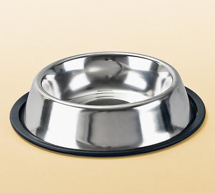 Nerez miska protiskluzová pro psy, 15,5 cm