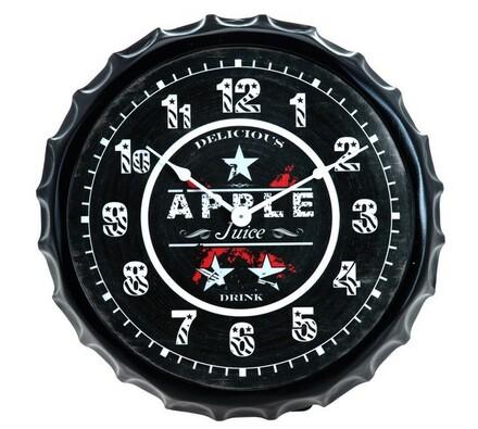 Nástěnné hodiny Apple plastové