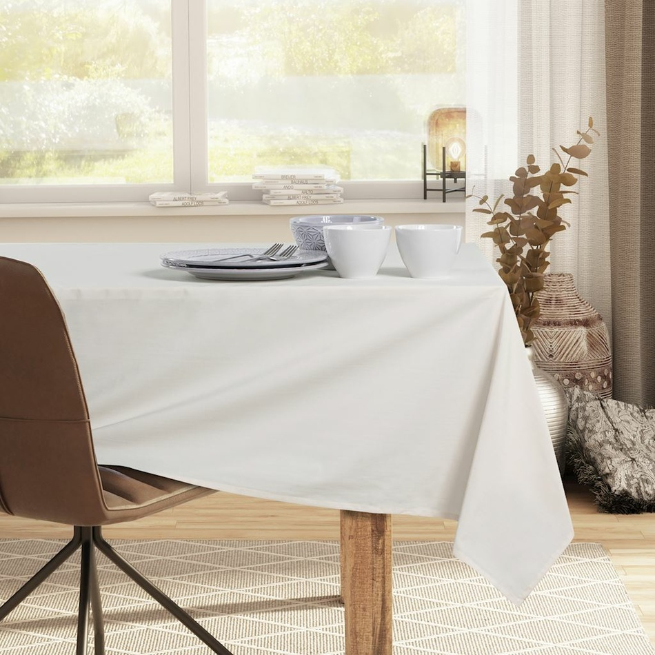 DecoKing Ubrus Pure cream, 110 x 110 cm