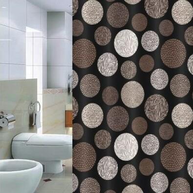 Sprchový závěs Pesaro hnědá, 180 x 180 cm