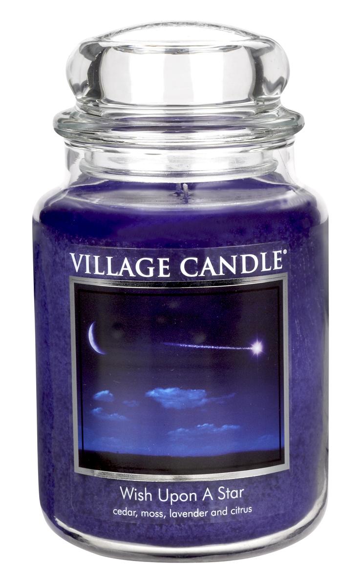 Village Candle Vonná svíčka ve skle, Padající hvězda - Wish upon a star, 645 g, 645 g
