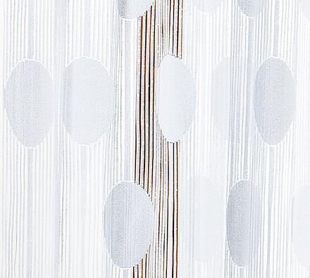 Provázková záclona Ada, bílá, 90 x 180 cm