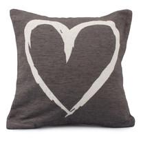 Obliečka na vankúšik Heart hnedá, 40 x 40 xm