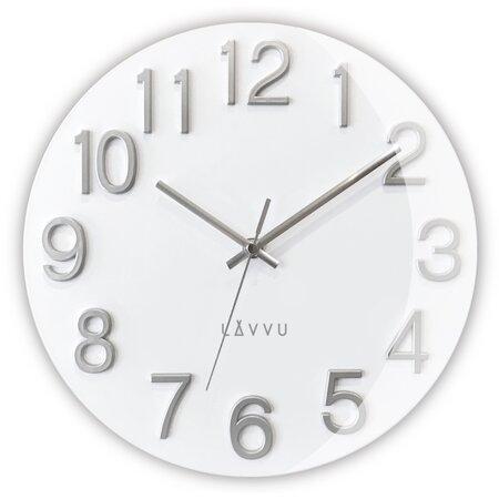 Nástěnné hodiny Lavvu Nord White LCT1061 bílá, pr. 30 cm