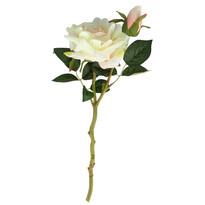 Sztuczna rozkwitła róża, biały