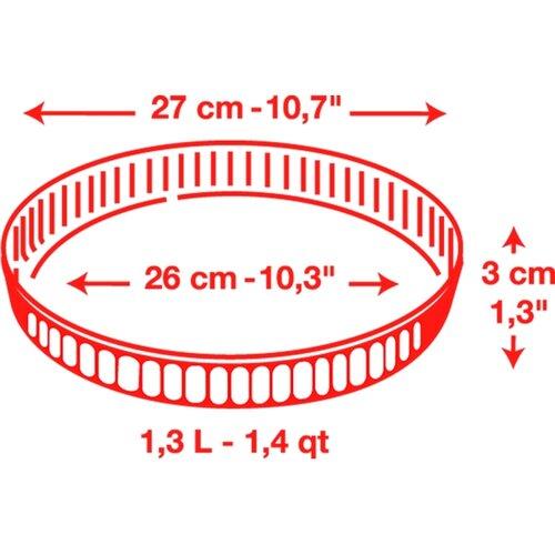 Ocuisine Skleněná forma na koláč 27 x 3 cm