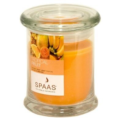 Vonná svíčka Spaas ve skle, Tropical Fruit, oranžová