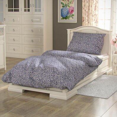 Lenjerie de pat din bumbac Provence Margarete albastră, 140 x 220 cm, 70 x 90 cm