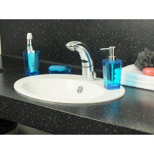 Kela Dozownik do mydła Kristall niebieski, 350 ml
