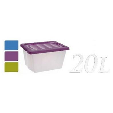 Kaiserhoff Úložný box 20l fialová