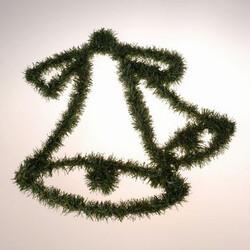 Nástěnná dekorace zvon, zelená