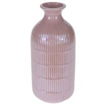 Loarre váza, rózsaszín, 10,5 x 22,5 cm