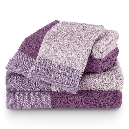 AmeliaHome Komplet ręczników Aria fioletowy/śliwkowy