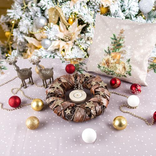 Faţă de masă cu model de Crăciun Pomul de Crăciun, 40 x 90 cm