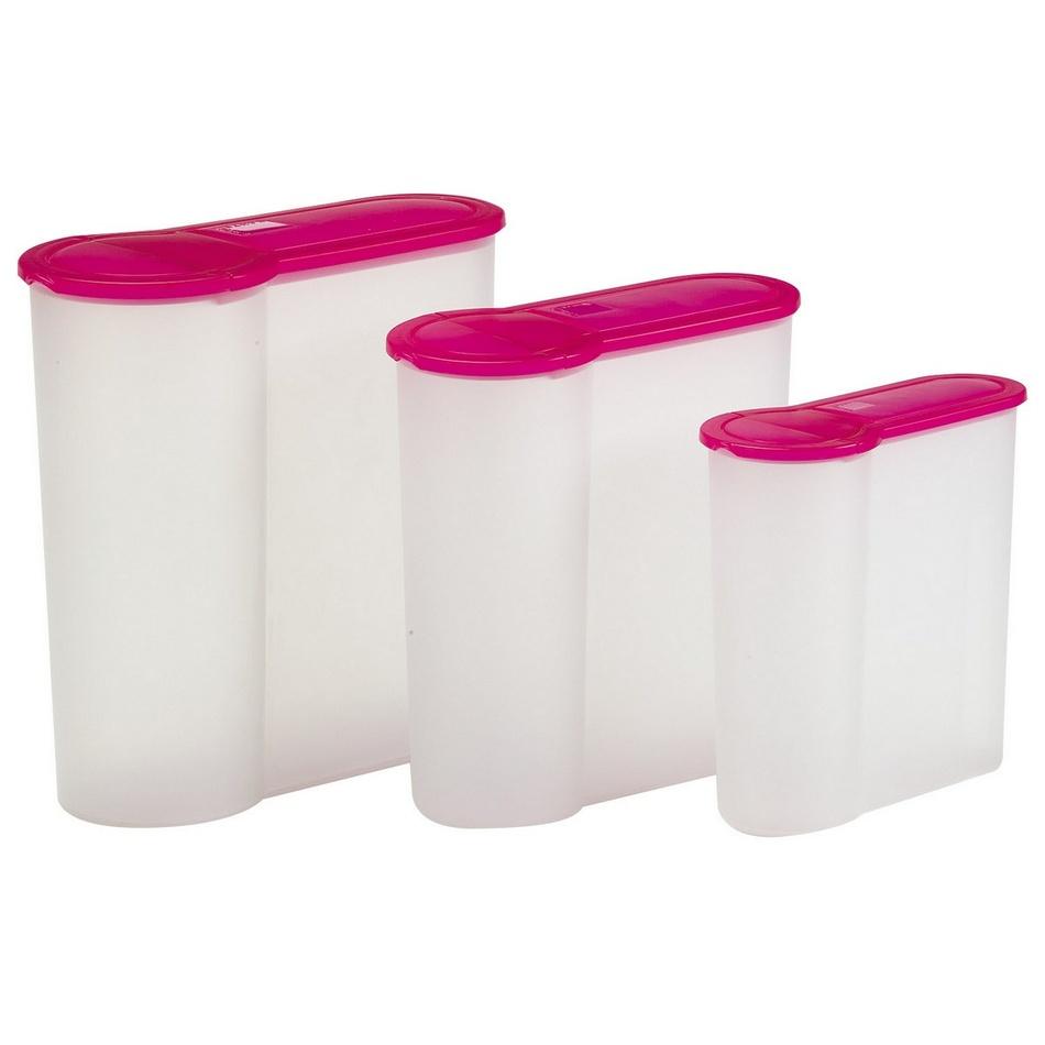 3-dielna sada plastových dóz Eka