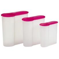 3-częściowy zestaw pojemników plastikowych Eka