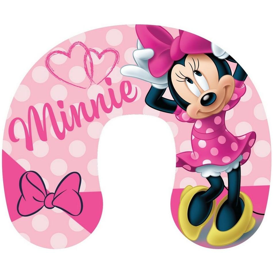 Jerry Fabrics Cestovní polštářek Minnie pink, 40 x 40 cm