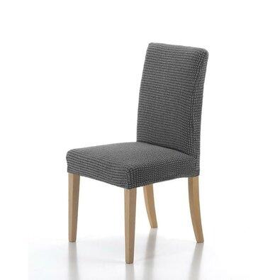 Multielastický potah na židli Sada šedá