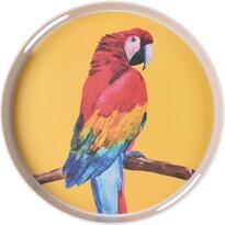 Koopman Bambusový servírovací tác pr. 30 cm, papoušek