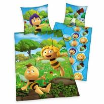 Dětské bavlněné povlečení do postýlky Včelka Mája , 100 x 135 cm, 40 x 60 cm