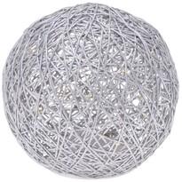 Világító elemes gömb 15 LED-del, átmérő: 15 mm, meleg fehér