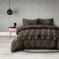 Lenjerie pat AmeliaHome Decoratif, din flanelă