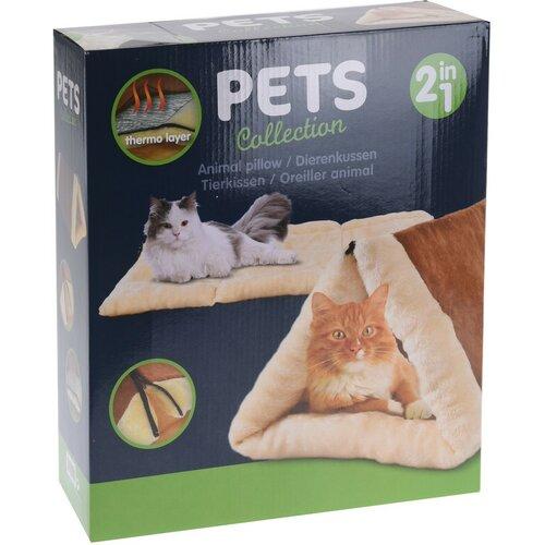 Pat pentru pisici Tunnel, maro