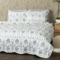 4Home Narzuta na łóżko Blue Patrones, 220 x 240 cm, 2 szt. 50 x 70 cm