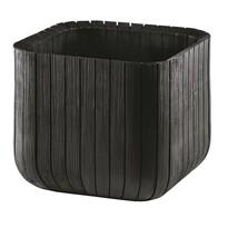 Keter Cube planter műanyag virágtartó M szürke, 30 x 30 x 30 cm