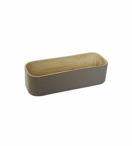 Bambusový organizér do zásuvky Compactor oválný - 22 x 8 x 6, lesklá
