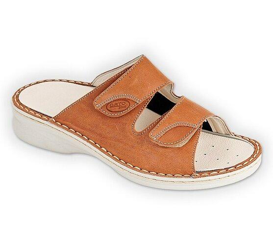 Dámske sandále ORTO, hnedé Hallux, 36