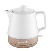 Concept RK0060 ceramiczny czajnik bezprzewodowy 1 l, biały