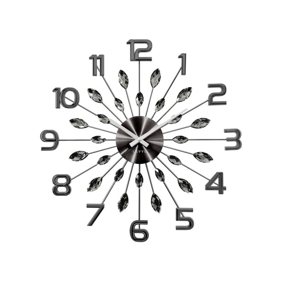 Lavvu LCT1191 Nástěnné hodiny Crystal Sun 49 cm, antracit